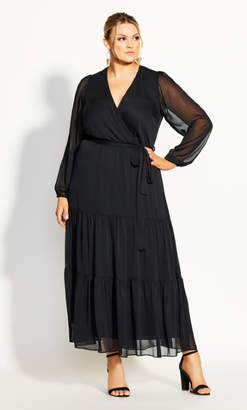 City Chic Elegance Maxi Dress - black