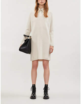 Max Mara S Elba wool and cashmere-blend dress