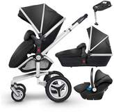 Silver Cross Surf 3 Chrome Complete Travel System And Simplifix Base