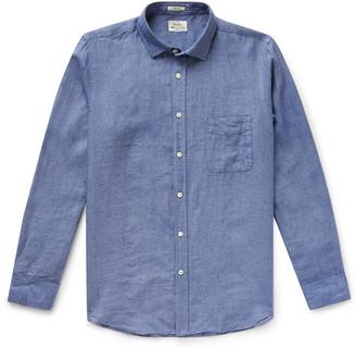 Hartford Slim-fit Cotton-chambray Shirt - Blue