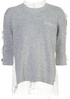 Sacai lace flower pullover