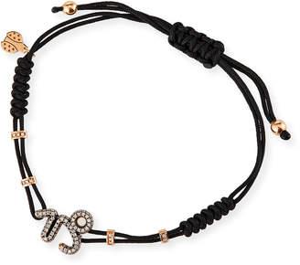 Pippo Perez 18k Pink Gold Diamond Capricorn Pull-Cord Bracelet