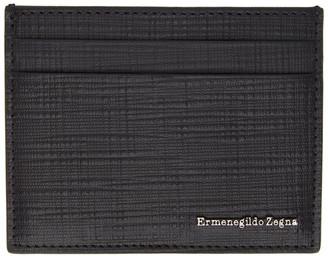 Ermenegildo Zegna Black Leather Card Holder