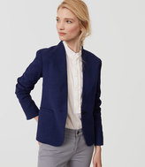 LOFT Tall Textured Collarless Blazer