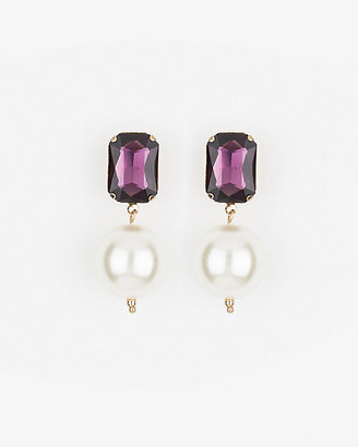 Le Château Gem & Pearl-Like Drop Earrings