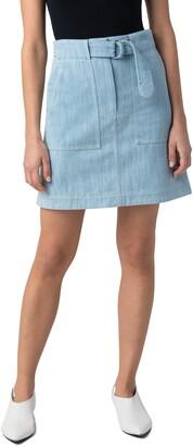 Akris Punto A-Line Denim Skirt