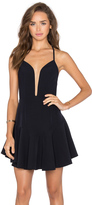 Shona Joy Giselle Plunged Mini Dress