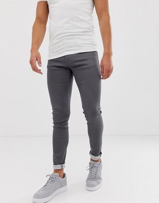Armani Exchange J33 super skinny fit gray jeans