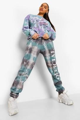 boohoo Tie Dye Tour Print Oversized Sweatshirt