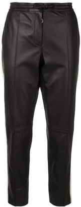 Yves Salomon Lightweight Tuxedo Stripe Pants