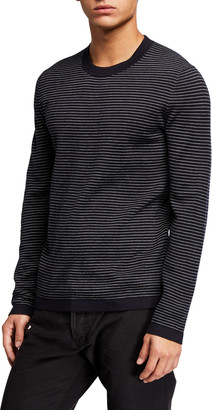 Theory Men's Ollis Milos Striped Crewneck Sweater