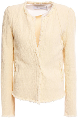 IRO Rosia Fringed Cotton-tweed Jacket