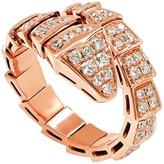 Bulgari Serpenti 18K Rose Gold & Diamond Ring Size 7