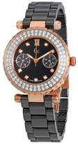 GUESS Black Dial Ladies Diamond Ceramic Watch A28105L2