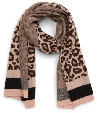 Ted Baker Leopard Pattern Knit Scarf