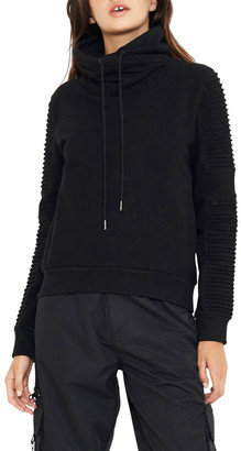 nANA jUDY Adeline Funnel Neck Sweater With Pin-Tuck Sleve