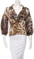 Just Cavalli Silk Printed Long Sleeve Top