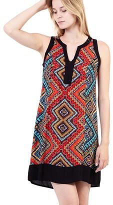 M&Co Izabel tribal print shift dress