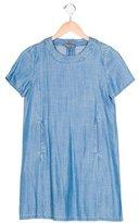 Vince Girls' Chambray Short Sleeve Dress