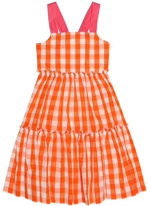 Il Gufo Gingham cotton dress