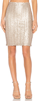 Alice + Olivia Ramos Sequin Midi Skirt in Metallic Bronze. - size 4 (also in )