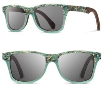 Shwood 'Canby' 55mm Polarized Seashell & Wood Sunglasses
