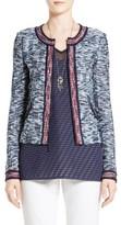 St. John Women's Asha Zip Front Tweed Jacket