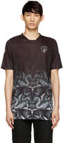 Marcelo Burlon County of Milan Black and Green Lamborghini Snake T-Shirt
