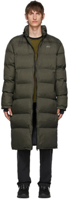 all in Green Long Puffy Jacket