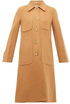 Acne Studios Orein Single-breasted Double-faced Wool Coat - Womens - Brown
