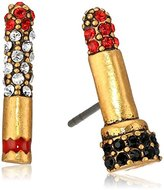 Marc Jacobs Charms Lipstick Cigarette Stud Earrings