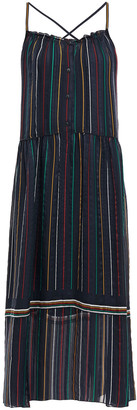 Rag & Bone Austin Striped Silk-chiffon Midi Dress