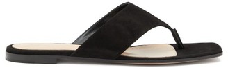 Gianvito Rossi Thong Suede Sandals - Black