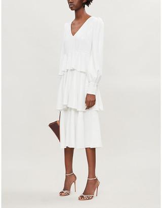 Olivia Rubin Sacha tiered sequinned midi dress