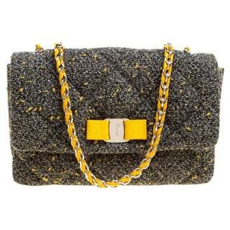 Salvatore Ferragamo Grey Tweed Handbags