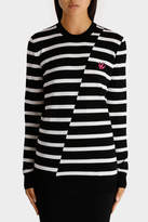 McQ Distort Stripe Crew Neck Jumper