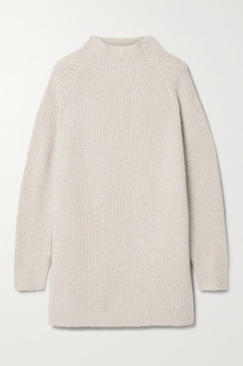By Malene Birger Calea Oversized Ribbed Merino Wool-blend Turtleneck Sweater - Camel