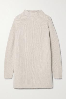 By Malene Birger Calea Oversized Ribbed Merino Wool-blend Turtleneck Sweater - Camel