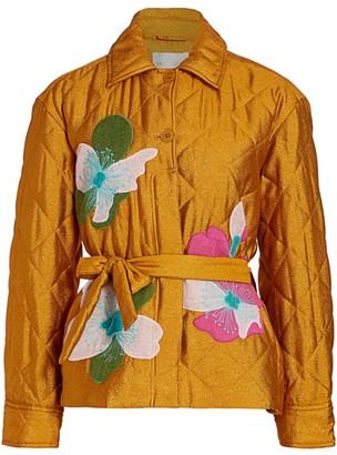 Stine Goya Aida Miki Applique Quilted Jacket
