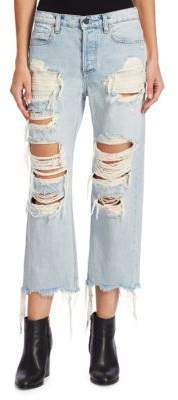 Alexander Wang Rival Distressed Cropped Jeans