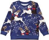 Mini Rodini Blue Reindeer Sweatshirt