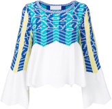 Peter Pilotto knitted top - women - Cotton/Polyamide/Viscose/Wool - S