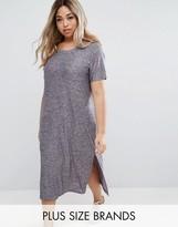 Junarose Short Sleeve Jersey Dress With Side Splits