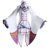 Mtxc Women's Re:Zero Starting Life in Another World Cosplay Emilia Suit Size Large