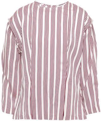 Sandro Iman Striped Satin-jacquard Top