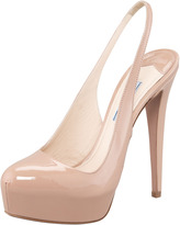 Prada Patent Leather Platform Slingback Pump