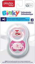 Playtex Baby Binky Orthodontic Silicon BPA-Free Pacifiers, 6+ Months