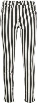 Nili Lotan Striped High-Rise Skinny Jeans