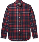 Gitman Brothers Button-down Collar Checked Cotton-flannel Shirt - Red