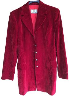 Valentino Red Cotton Coats